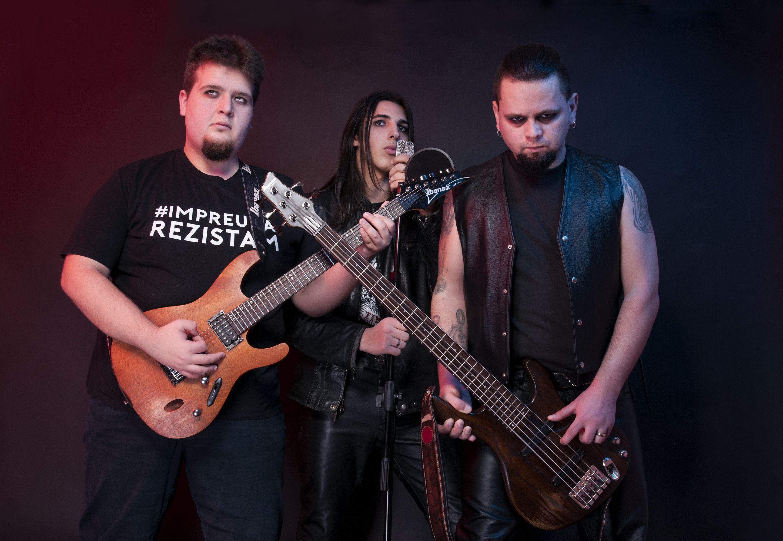 Sedinta foto de album pentru trupă de rock