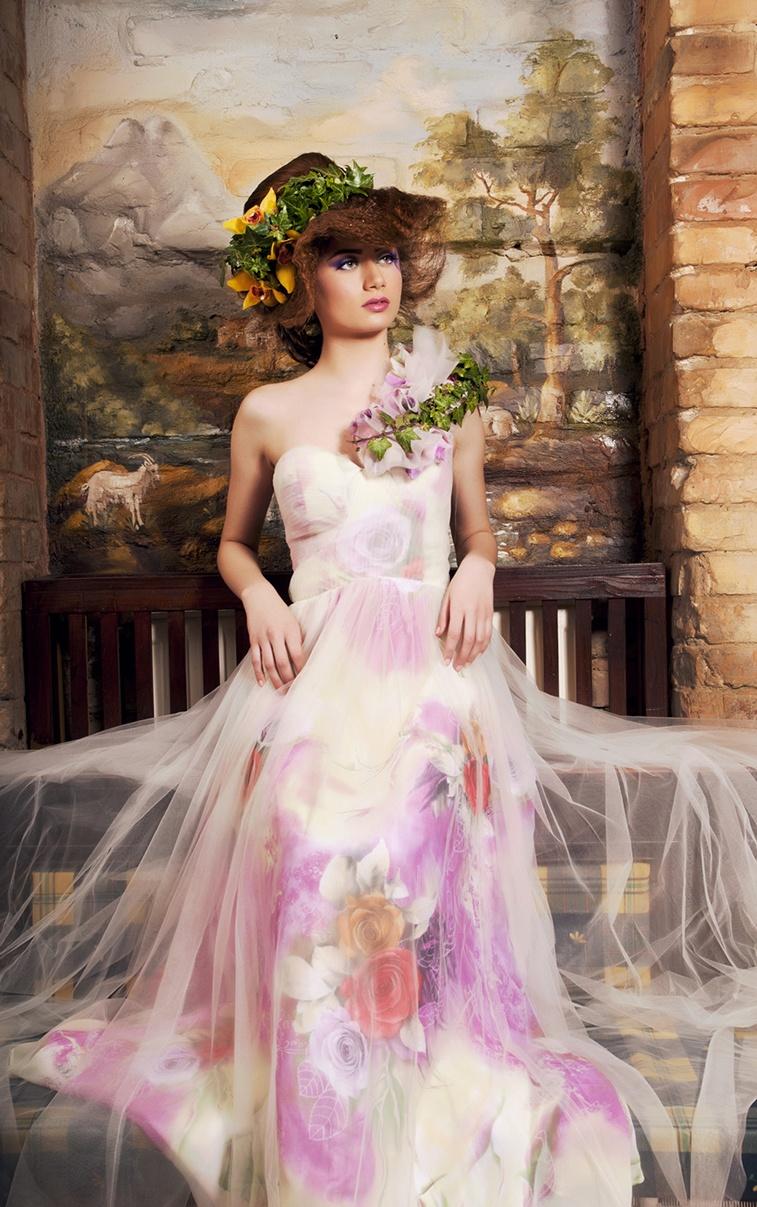 Ședință foto flori rochie eleganta